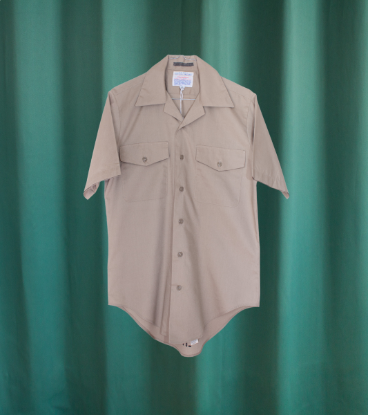 Vintage beige cotton-blend shirt from the US NAVY
