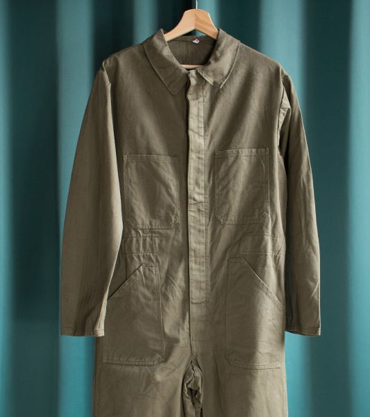 Vintage French military coveralls HBT