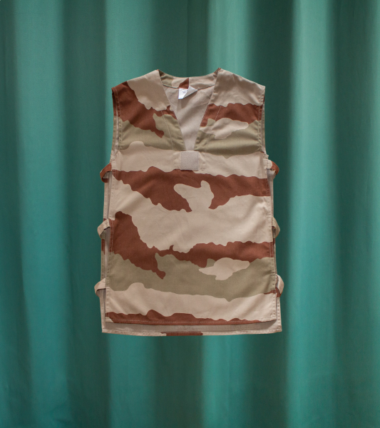 Vintage Military Camouflage Sleeveless Top