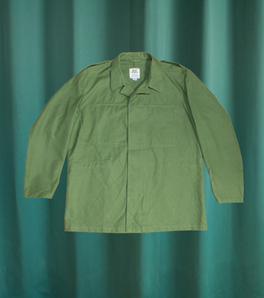 Vintage military green jacket from the Swedish army
