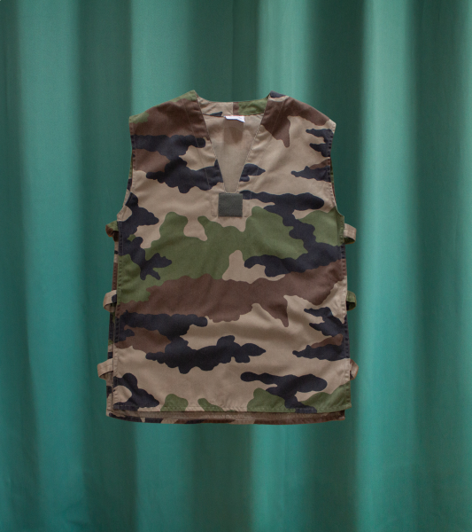 Vintage Camouflage Sleeveless Military Top