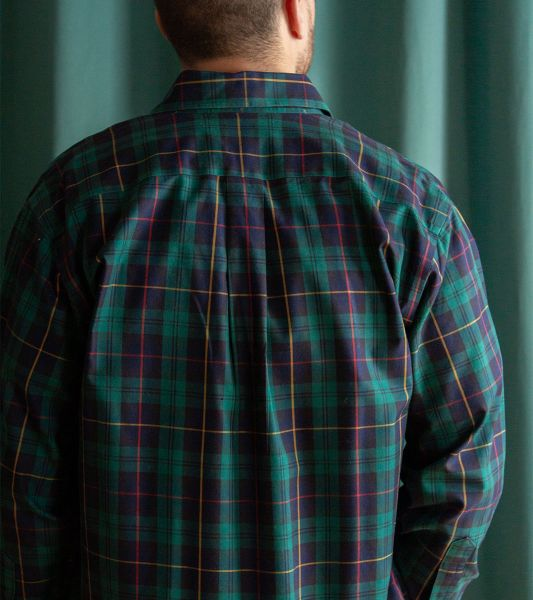 Brooks Brothers vintage shirt with forest green tartan checks