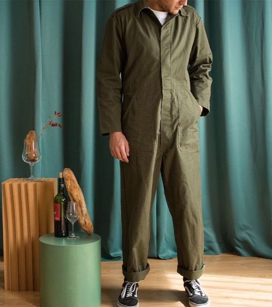 Vintage green jumpsuit from the Dutch army