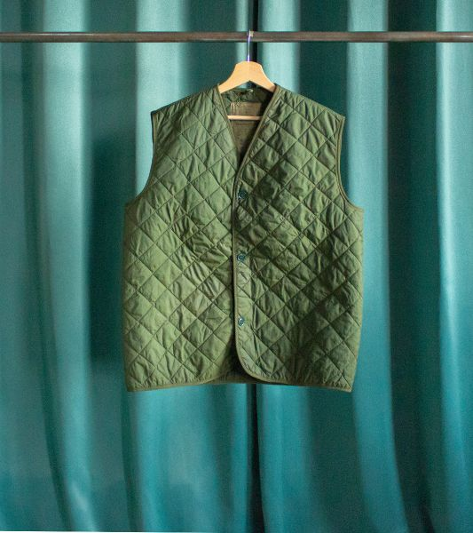 Vintage English Army Quilted Sleeveless Vest