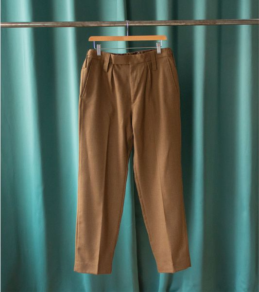 Vintage British Army brown pleated trousers