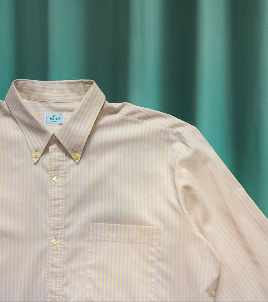 Shirt with pastel blue and yellow stripes