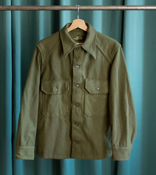 50's US Army vintage wool shirt or overshirt