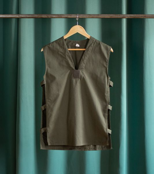 Military green vintage sleeveless top