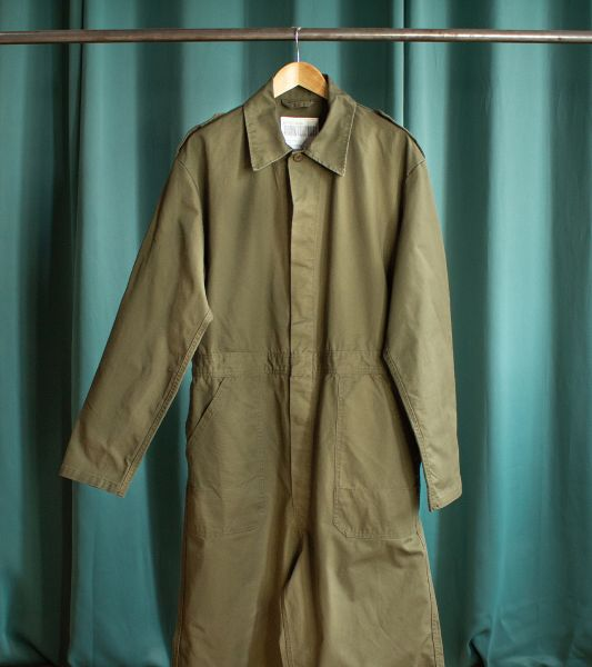 Olive green vintage coveralls from the Dutch army