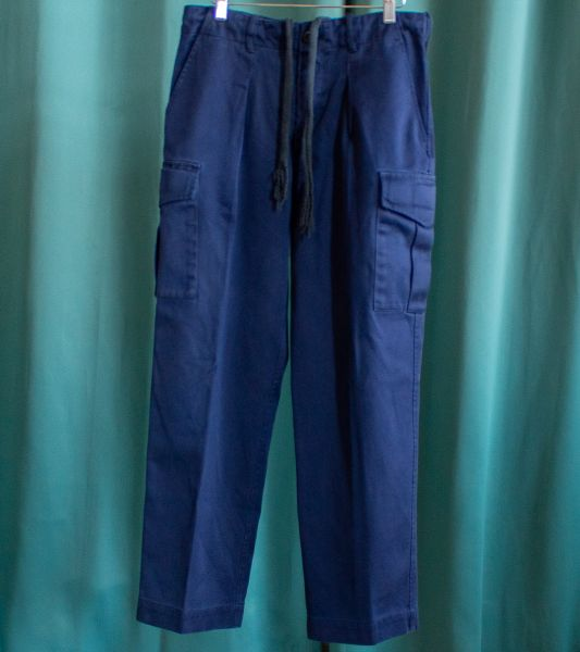 Vintage navy blue cargo trousers from the British army