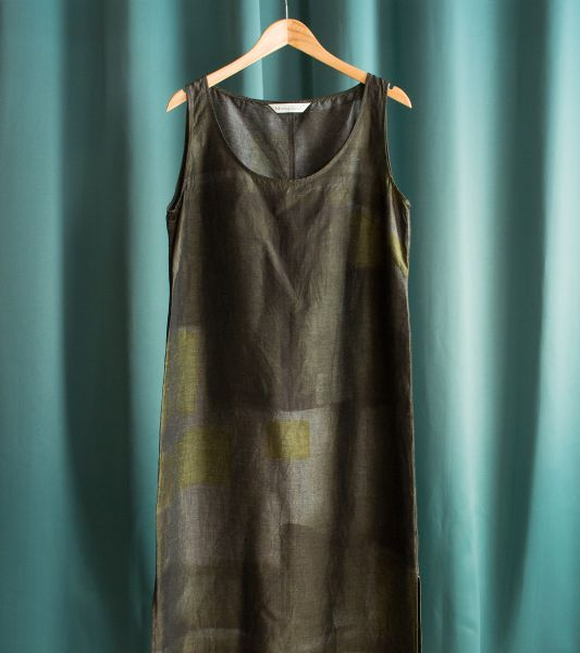 Abstract patterned sleeveless dress