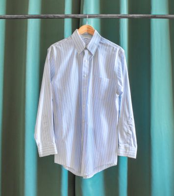 Brooks Brothers vintage white and blue striped shirt