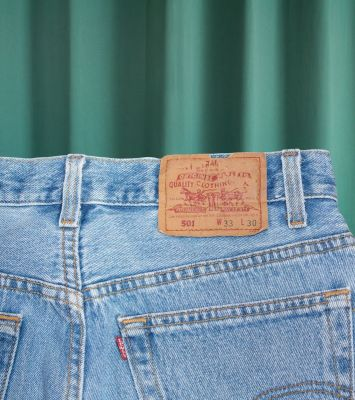 Levi's 501 vintage light blue washed jeans W30 made in USA